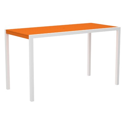 Mod Bar Table Top Finish: Tangerine, Base Finish: Textured White