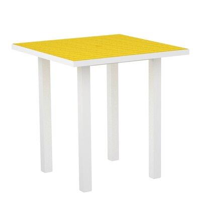 Euro Side Table Base Finish: Textured White, Top Finish: Lemon