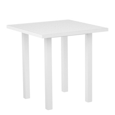 Euro Side Table Base Finish: Textured White, Top Finish: White