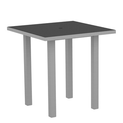 Euro Side Table Top Finish: Slate Grey, Base Finish: Textured Silver