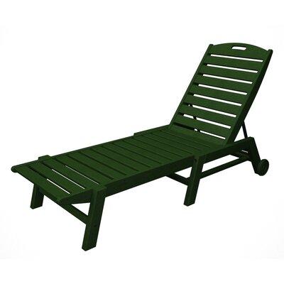 Nautical Chaise Lounge Finish: Green