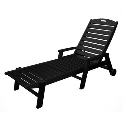 Nautical Chaise Lounge with Arms Finish: Black