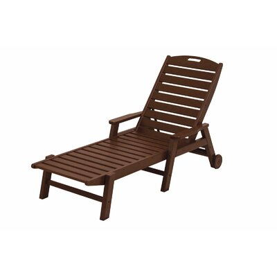 Nautical Chaise Lounge with Arms Finish: Mahogany