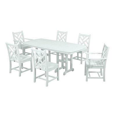 Chippendale 7 Piece Dining Set Finish: White