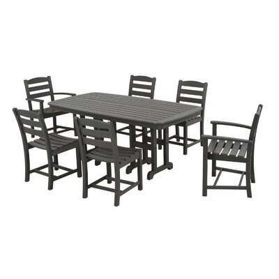 La Casa Cafe 7 Piece Dining Set Finish: Slate Grey