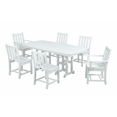 Traditional Garden 7 Piece Dining Set Finish: White