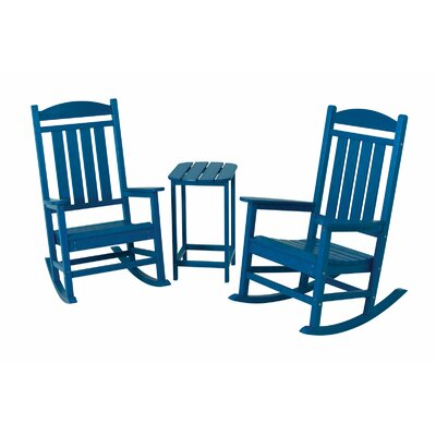 Presidential 3 Piece Rocker Set Finish: Pacific Blue