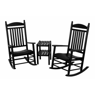 Jefferson 3 Piece Rocker Set Finish: Black