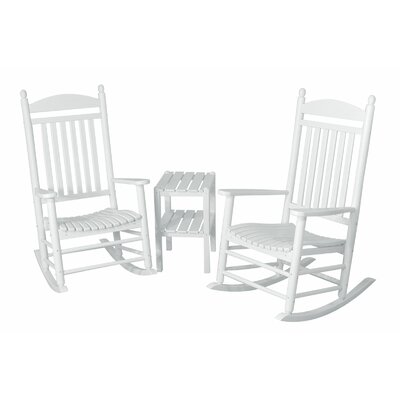 Jefferson 3 Piece Rocker Set Finish: White