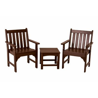 Vineyard 3 Piece Garden Chair Set Finish: Mahogany