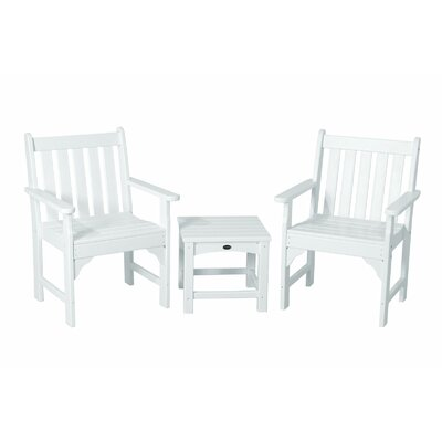 Vineyard 3 Piece Garden Chair Set Finish: White