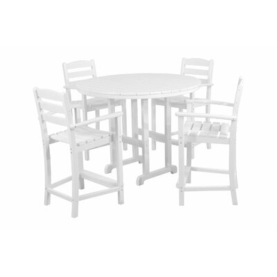 La Casa Cafe 5 Piece Counter Set Finish: White