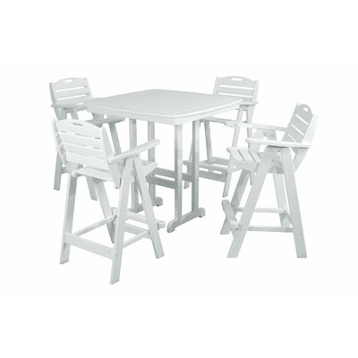 Nautical 5 Piece Bar Set Finish: White