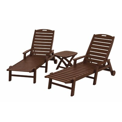Nautical 3 Piece Chaise Set Finish: Mahogany