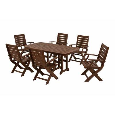 Signature 7 Piece Dining Set Finish: Mahogany