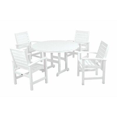 Signature 5 Piece Dining Set Finish: White
