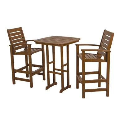 Signature 3 Piece Bar Set Finish: Teak