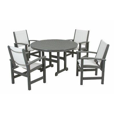 Polywood Coastal 5 Piece Dining Set - Finish: Slate Grey at Sears.com