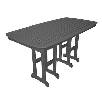 Nautical Dining Table Table Size: 44, Finish: Slate