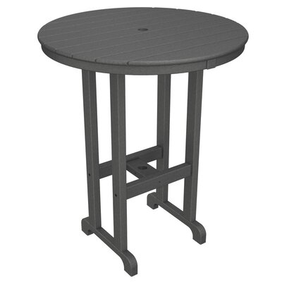 Round Outdoor Bar Table Finish: Mahogany, Table Size: 48