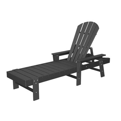 South Beach Chaise Lounge Finish: Slate Grey