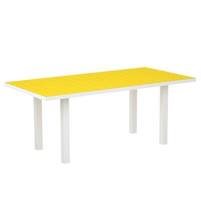 Euro Dining Table Finish: Textured White Aluminum Frame / Lemon