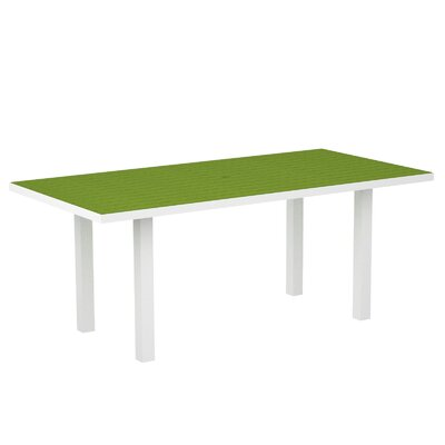 Euro Dining Table Finish: Textured White Aluminum Frame / Lime