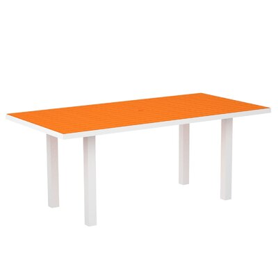 Euro Dining Table Finish: Textured White Aluminum Frame / Tangerine