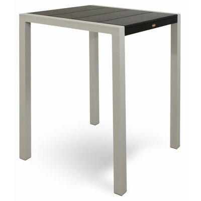 "Polywood Trex Outdoor Surf City Bar Height Dining Table - Color: Textured White/Stepping Stone, Size: 36"" x 73"" at Sears.com"