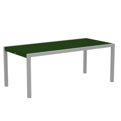 "Polywood Trex Outdoor Surf City Dining Table - Size: 36"" x 73"", Color: Textured Silver/Rainforest Canopy at Sears.com"