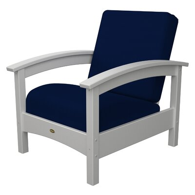 Trex Outdoor Furniture Rockport Club Classic White Navy Patio Lounge
