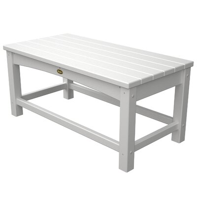 Polywood Trex Outdoor Rockport Club Coffee Table - Color: Classic White at Sears.com