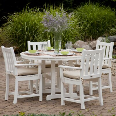 Traditional 5 Piece Dining Set Finish: White