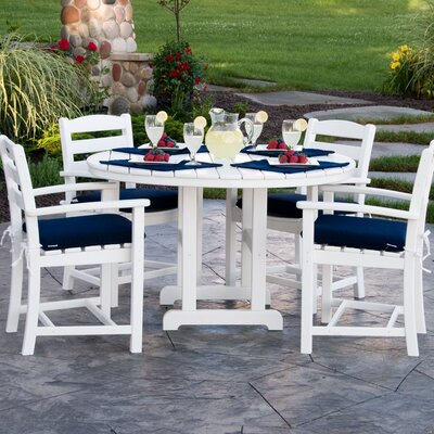 La Casa Cafe 5 Piece Dining Set Finish: White
