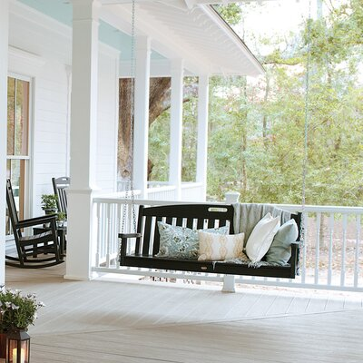 Polywood Trex Outdoor Yacht Club Porch Swing with Cushion - Color: Classic White at Sears.com