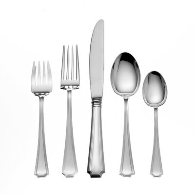 Gorham Fairfax 5 Piece Dinner Flatware Set with Cream Soup Spoon N/G