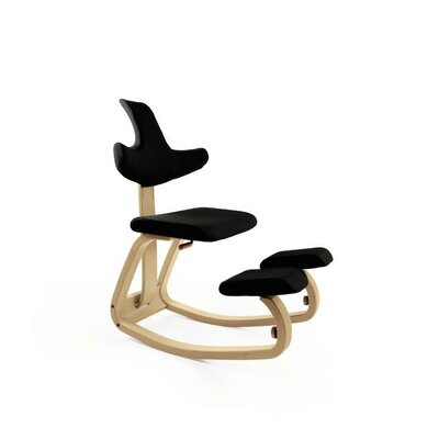 Thatsit Balans Side Chair Frame Finish Finish: Natural, Color: Onyx Black Product Image 5839