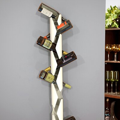 10 Bottle Wall Mounted Wine Rack