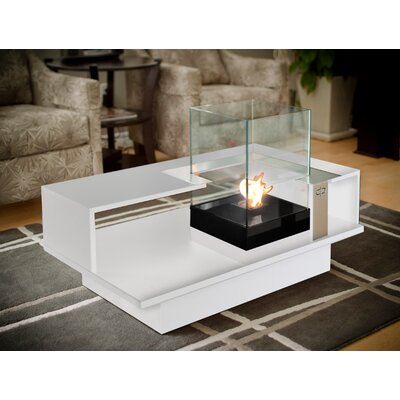 Buy Low Price Decorpro Level Compact Indoor Bio Ethanol Coffee Table Fireburner Color White