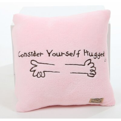 Marshmallow Plush Cuddle Pillow in Bubble Gum Pink with Chocolate Hug