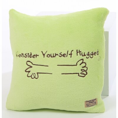Marshmallow Plush Cuddle Pillow in Lime with Chocolate Hug
