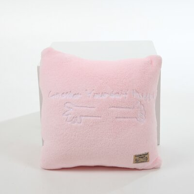 Marshmallow Plush Cuddle Pillow in Bubble Gum Pink with White Hug