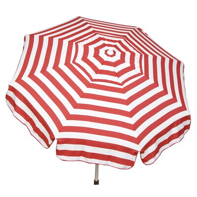 6 Italian Drape Umbrella Color: Red / White