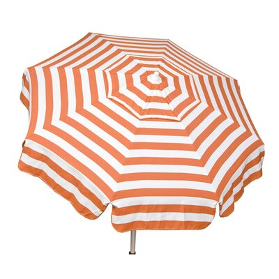 6 Italian Drape Umbrella Color: Orange / White