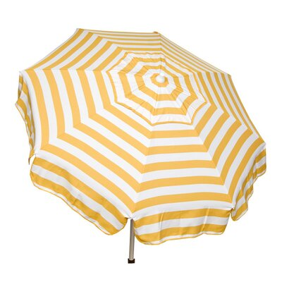 6 Italian Drape Umbrella Color: Yellow / White