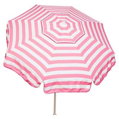 6 Italian Drape Umbrella Color: Pink / White