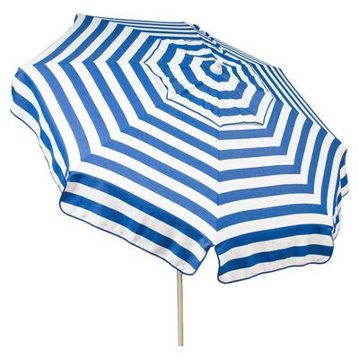 6 Italian Drape Umbrella Color: Blue / White