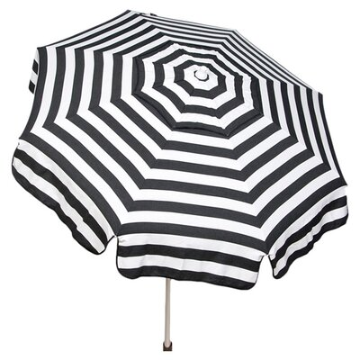6 Italian Drape Umbrella Color: Black / White