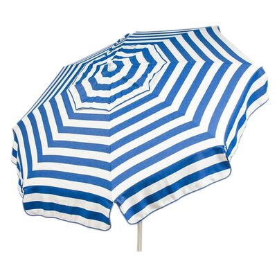 6 Italian Beach Umbrella Fabric: Blue / White