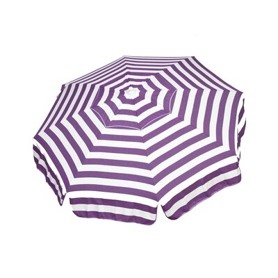 6 Italian Drape Umbrella Color: Purple / White